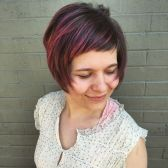 8 Super Short Bangs With Pink Highlights